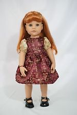 "Gotz doll 18"" Hannah red hair & brownish green eyes"