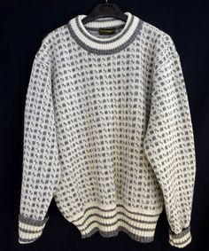 Jumpers For Women, Cable Knit, Wool Blend, Retro Vintage, Folk, Men Sweater, Crew Neck, Pullover, Knitting