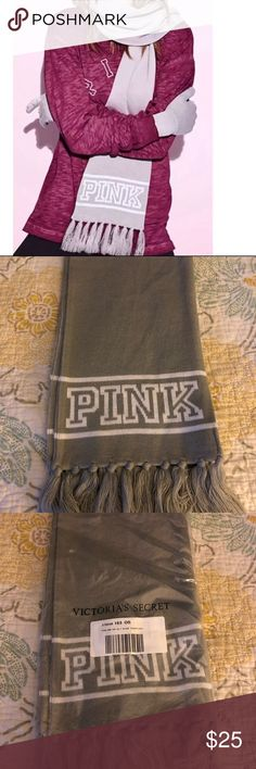 Victoria's Secret Pink Scarf  VS PINK Scarf   This listing is for the scarf only  New. Gray.   Sorry no trades PINK Victoria's Secret Accessories Scarves & Wraps