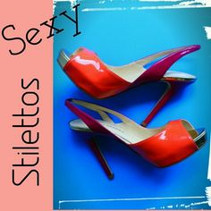 HPSEXY STILETTOS Orange & Purple Stilettos Shoes