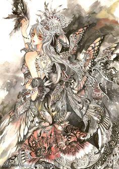 Silver Butterfly by laverinne on DeviantArt