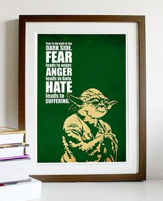 I've always regretted that we didn't get to learn more about the very Buddhist-like ways of this most elder Jedi. His mysticism lent a gravitas to the second movie that really sealed the deal for me. It's corny to say it, but I have incorporated much of what Master Yoda had to say into my own daily life.