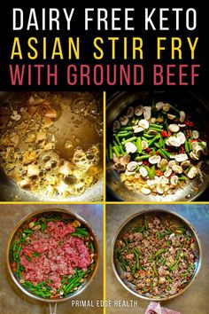 This Asian Ground Beef Stir Fry is a quick and easy dinner you can make any night of the week with just a few ingredients and one pan. In less than 30 minutes, you'll have a dairy-free dinner that taste's like Chinese take-out but is way healthier for you!