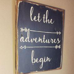 let the adventures begin