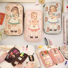 Afrocat Paper Doll Mate Multi Pen Pouch Ver 3 Cosmetic Organizer Bag Pencil Case #Afrocat