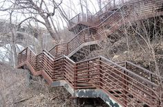 Minneapolis' East Bank stairways lead to quiet riverside solitude