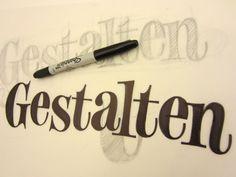 Didot-like lettering by Ken Barber Gestalten