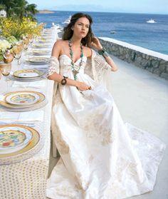 Brides: Grecian Destination Wedding Dresses | Wedding Dresses and Style | Brides.com