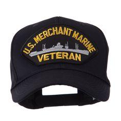 Veteran Military Large Patch Cap - Merchant MC