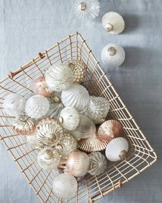 Our exclusive French Country Ornament Sets are made from thick mercury glass and feature a variety of finishes that add texture and contrast to your decor. Shabby Chic Christmas Ornaments, Gold Christmas Decorations, Christmas Ornament Sets, Pink Christmas, Christmas Baubles, Christmas Stuff, Christmas 2019, Christmas Trees, Merry Christmas