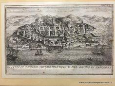 Sardegna antica - Tutto Sardegna - Incisione di Cagliari fine 600 Incisione di Cagliari di F. Bertelli - Immagine n°1