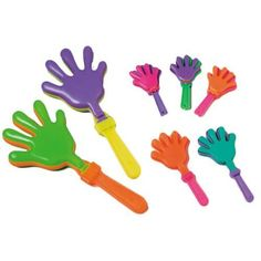 "~ 12 ~ Hand Clappers Noisemakers Favors ~ 7.5"" ~ New, 2015 Amazon Top Rated Noisemakers #Toy"