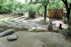 Open air stone amphitheater.