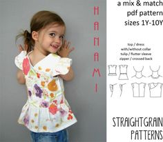 Hanami+top+or+dress+van+StraightGrainPattern+op+Etsy,+$8.00