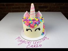 Buttercream Unicorn Cake Tutorial - YouTube