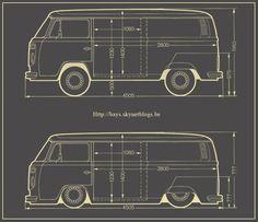 Dimension combi VW