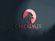 Chicken Leg Logo by Josuf Media on Creative Market