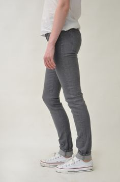 Grey Denim Skinny Peanut Jeans from MokeeGenes