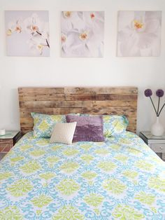 recycled pallet wood headboard or bed - custom reclaimed king queen full twin cali set Reclaimed Wood Headboard, Custom Headboard, Headboard Designs, King Headboard, Rustic Headboards, Headboard Ideas, Bedroom Ideas, Recycled Pallets, Wood Pallets