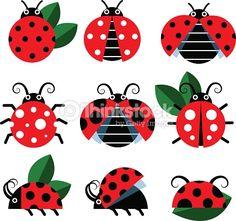 Vector Art : Cute ladybug vector