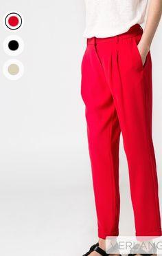 Red pantalon