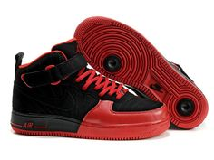 Chaussures Nike Air Force One Noir/ Rouge [nike_10584] - €62.97 : Nike Chaussure Pas Cher,Nike Blazer and Timerland www.facebook.com/...