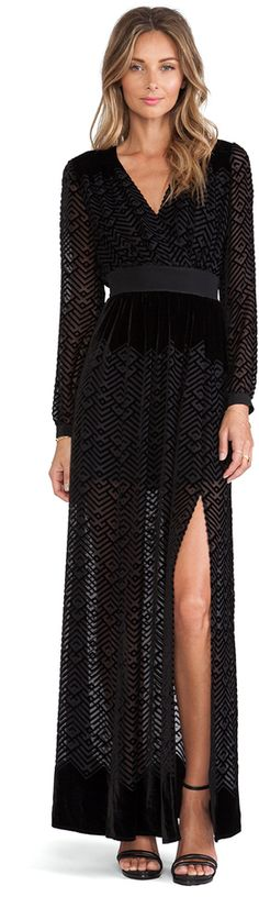 Twelfth Street By Cynthia Vincent Long Sleeve Maxi Dress