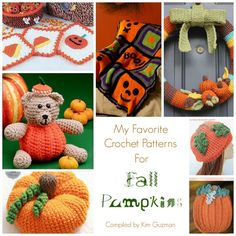 Roundup: 10 Free Crochet Patterns for Fall Pumpkins, curated by Kim Guzman