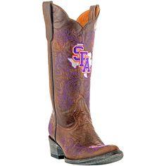 Gameday Stephen F. Austin Lumberjacks Ladies Cowboy Boots - Brown