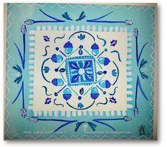 Pattern in Blue...Allie Ward Watercolors http://endofmybrush.blogspot.com/