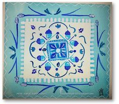 Pattern in Blue...Allie Ward Watercolors http://endofmybrush.blogspot.com/