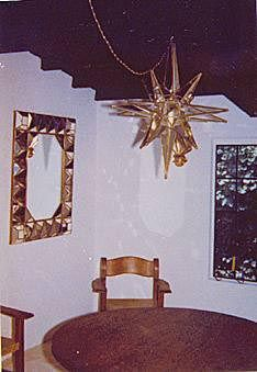 Marilyn's dining room as it appeared in 1962 when she lived in the home. This was also the room in which Allan Grant conducted Marilyn's final interview.