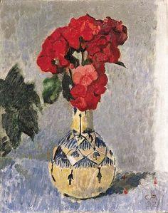 wasbella102:Cuno Amiet: Geranien in Vase, 1932
