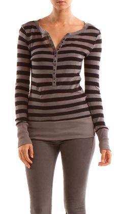 Sweater Knit Jersey Henley