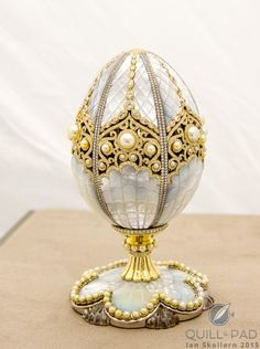 The Fabergé Pearl Egg unveiled at Baselworld 2015