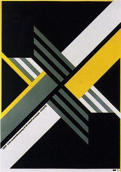 Bold Stripes - Poster designed by Peter Steiner for Atlantis 2000. German Graphic Design.
