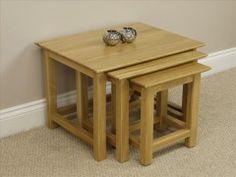 Milan Solid Oak Nest of Tables #nestoftables