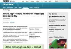 BBC Newsbeat - WhatsApp: Record number of messages sent each day