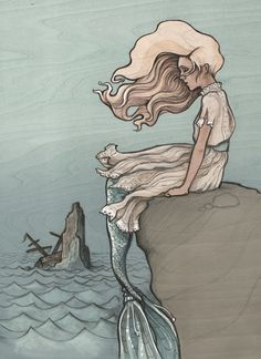 Evolution of a Mermaid Art Print by Jewelwing