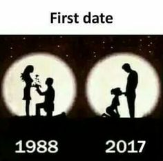 First date 2016 vs 2017 Most Popular Memes, First Dates, Dating Memes, Funny Pranks, Funny People, Funny Kids, Funny Posts, Funny Pictures, Funny Quotes