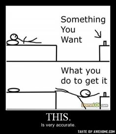 so true. Older, with kids, and there is STILL something hidding under the bed. Sad :)