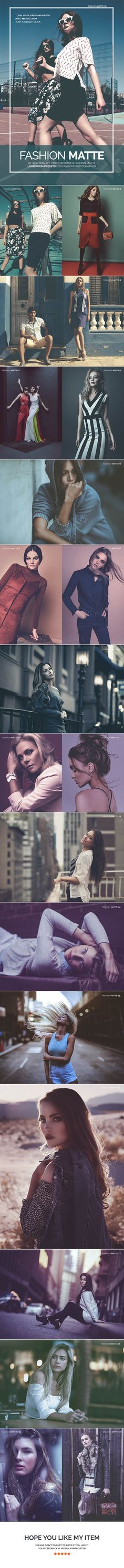 20 Fashion Matte Lightroom Presets — LRTemplate #retro #lrtemplate • Available here → https://graphicriver.net/item/20-fashion-matte-lightroom-presets/17458812?ref=pxcr
