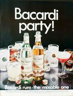 1968 Bacardi Rum Vintage Ad | eBay