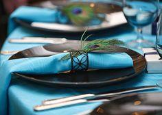 More on the simple side..   #weddings #peacockweddings