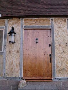 hand made oak front door beautiful