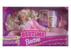 bedtime barbie, oh my hat she was always on my bed with my teddy!