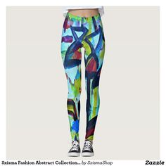 Emerald Fields Abstract Custom Yoga Leggings by BOLO Designs. Crazy Outfits, Yoga Leggings, Printed Leggings, Look Cool, Dressmaking, Cool T Shirts, Things That Bounce, Cool Designs, Stylish