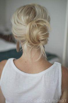 easy+chignon+updo+for+long+hair