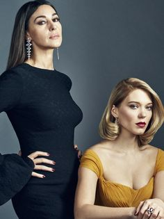 Monica Bellucci and Léa Seydoux by Gavin Bond | BAFTA Portraits