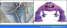 This is now what I will always think about when I hear someone say they want a thigh-gap...